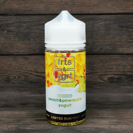 Жидкость FRTS & YGRT Limited Peach & Pineapple Yogurt 100мл 3мг   оригинал