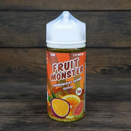 Жидкость Fruit Monster Passion Orange Guava 100мл 3мг   оригинал