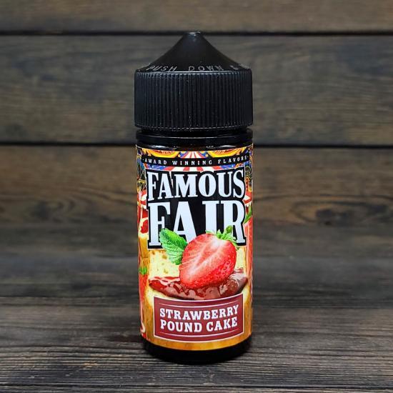 Жидкость Famous Fair Strawberry Pound Cake 100мл 3мг | оригинал