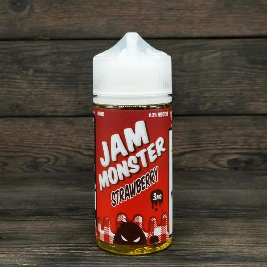 Жидкость Jam Monster Strawberry 100мл 3мг | оригинал