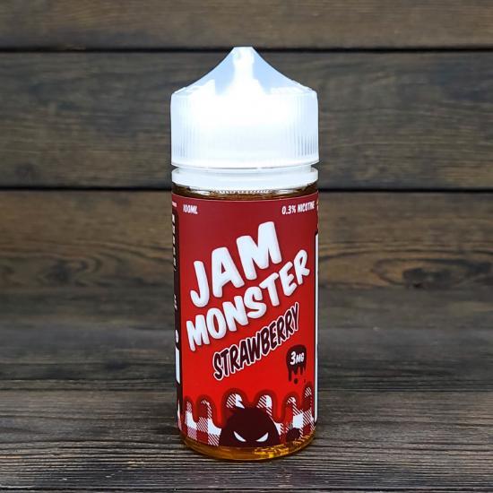 Жидкость Jam Monster Strawberry 100мл 3мг   оригинал
