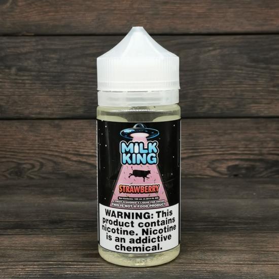 Жидкость Milk King Strawberry 100мл 0мг   оригинал
