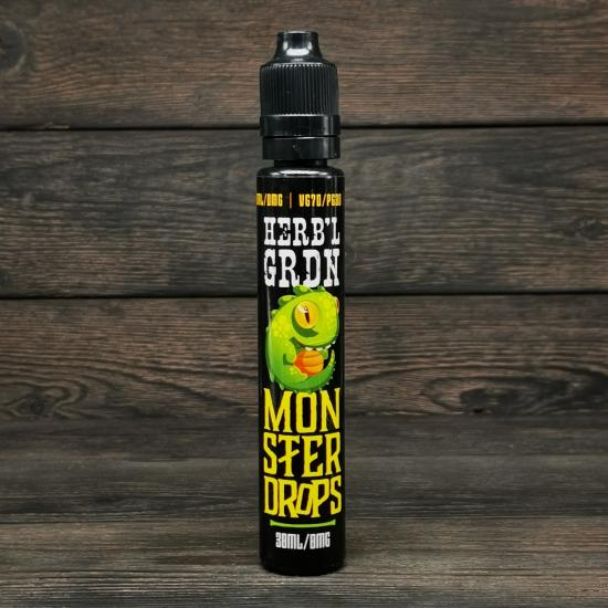 Жидкость Monster Drops HERB'L GRDN 30мл 0мг | оригинал