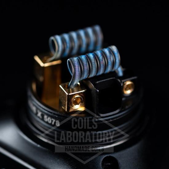 Намотка Coilslab Staggerton 0.11Ω 3mm (2x0.3a1+6x0.5*0.1n80+0.1n80) | оригинал
