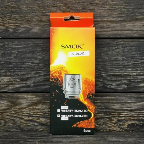 Сменный испаритель SMOK V8 Baby-M2 0.25Ω | оригинал